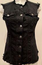 size 40 03cac e143d gilet jeans nero in vendita | eBay
