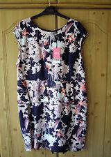 NEXT LADIES NAVY FLORAL PEPLUM DRESS - BNWT - UK SIZE 18