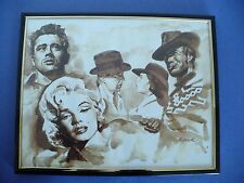 Hollywood Movie Stars Bogart Monroe Eastwood & Dean Collage Print with Frame