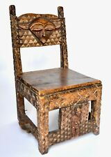 Belguim Congo Pende Tribal Chair Hand Carved, Rare
