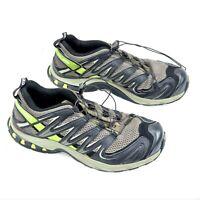 Salomon XA Pro 3D Mens Size 8 Black Gray Green Trail Running Hiking Shoes