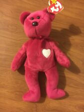 RARE 1998 Valentina Retired Ty Beanie Baby With Errors Used EX FS