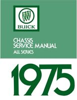 1975 Buick Service Shop Repair Manual Book Engine Drivetrain Electrical Guide OE