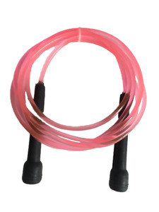 Pink Skipping Ropes Nylon Jump Fitness Speed Rope Training Gym Workout