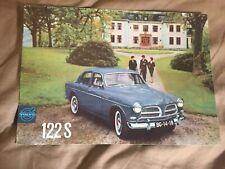 1961 Volvo 122S Amazon Sedan USA Market Color Brochure Catalog Prospekt
