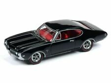 1969 Oldsmobile Cutlass S-Ebony Black ** RR ** JOHNNY LIGHTNING Muscle 1:64 NUOVO
