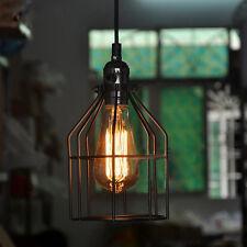 Metal Cage Antique Retro Vintage Edison Pendant Light Chandelier Ceiling Lamp