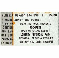 SEVENDUST & ZAKK WYLDE & DISTURBED Concert Ticket Stub 5/14/11 KANSAS CITY MO