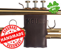 "Trumpet Valve Guard KGUBrass. ""Crazy Horse"" Leather. Brown cover *multicolored"