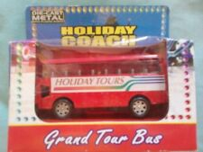 DIECAST MODEL RED BUS GRAND TOUR BUS HOLIDAY COACH