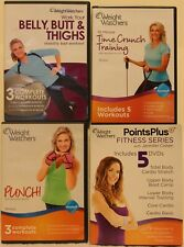 4 Weight Watchers workout DVD points plus punch Belly Butt Thighs total body