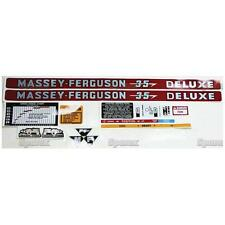 New Massey Ferguson Decal Set MF35 Deluxe
