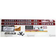 New Massey Ferguson Decal Set MF35 Deluxe