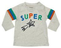 First Impressions Baby Boys 6-9 Months Super Star Long Sleeve T-Shirt NWT Beige