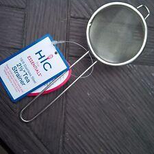 HIC 18/8 STAINLESS STEEL 2 1/2 INCH FINE MESH TEA STRAINER