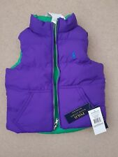 New Ralph Lauren Girls Reversible  Body warmer/gilet Size 3T