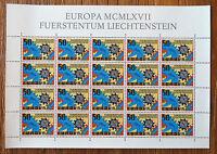 Liechtenstein CEPT 474 postfrisch kompletter Bogen MNH Europa 1967