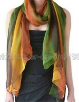 Women Fashion Pretty Long Soft Gradient Chiffon Scarf Wrap Shawl Stole Scarves
