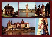 Moritzburg bei Dresden Schloß Mehrbild-AK Postkarte DDR diverse Gebäude Bauwerke