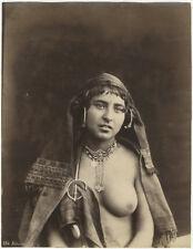 Photo Anonyme Albuminé Bédouine Sein Nue Vers 1870/80