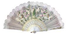 Hand Fans Abanico Made In Spain San Judas Saint Jude Print Vintage Handheld Fan
