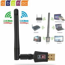 600Mbps Dual Band 2.4GHz/ 5Ghz 802.11ac Wireless Wifi USB Adapter Antenna