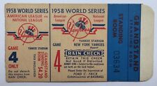 1958 NY YANKEES  WORLD SERIES GAME 4 GRANDSTAND TICKET STUB