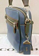 Xlnt COACH 1941 DYLAN Crossbody Messenger Shoulder Bag Denim Blue Pebble Leather