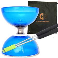Quartz Triple Bearing Diabolo & Metal Sticks - Clutch Diablo Set & Bag - Blue