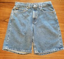 VTG Levis Mens 550 Jean Shorts Relaxed Fit Red Tab Blue Denim Sz 32 Actual 30