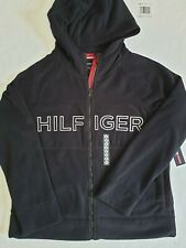 TOMMY HILFIGER women`s Fleece Hooded Jacket BIG Logo Full...