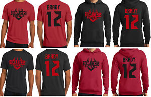 Tom Brady Tampa Bay Buccaneers Jersey T-Shirt or Hoodie Youth and Men's Sizes