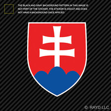 Slovak Coat of Arms Sticker Decal Self Adhesive Vinyl Slovakia flag SVK SK