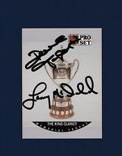 Lanny McDonald & Dave Taylor signed The King Clancy Trophy Pro Set hockey card