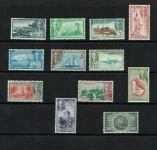 Barbados: 1950 King George VI Pictorial definitive set, complete, VLM Mint