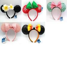 5pcs Halloween Corn Bow Minnie Ears Disney Parks Mickey Mouse Sequins Headband