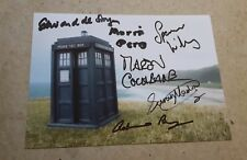DOCTOR WHO MULTI-SIGNED / AUTOGRAPHS x6 - MORRIS PERRY, SPENCER WILDING etc
