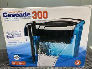 Penn Plax Cascade 300 GPH Power Filter Fish Aquarium Quad 100 Gallons New READ!!