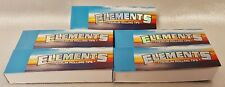 5 Packs Elements Premium Ultra Thin Rice Rolling Paper Tips 50 Per Pack