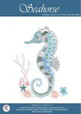 Seahorse embroidery kit - Irene Junkuhn - Rajmahal art silk thread