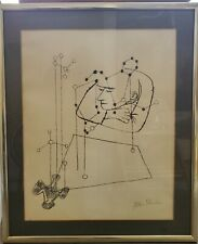 """BEN SHAHN SIGNED 1968 LITHOGRAPH FRAMED """"MANY THINGS,THE THINKER"""""""
