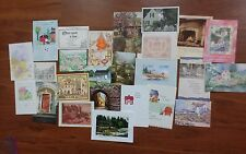 25 Vintage Greeting Cards - Houses - Scrapbooking, Collage, Card-Making