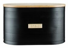 Typhoon Living Otto Airtight Bread Bin with Bamboo Lid Black/Gold  [8226]