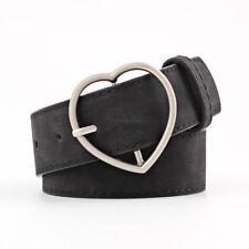 Stylish Ladies Women Heart Buckle Belt Dress Jeans Faux Leather Waistband NEW