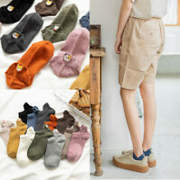 Candy Color Novelty Low Cut Hosiery Cotton Ankle Socks Invisible Cartoon Cat