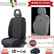 COPPIA COPRISEDILI Anteriori Specifici FIAT PUNTO (Tutte) Foderine Nero 38