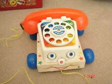 VINTAGE 1961 Fisher Price Pull lungo chiacchiere telefono per bambini Toy Story