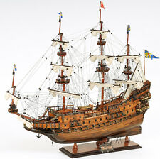 "Vasa Swedish Wasa Wooden Tall Ship Model 29"" Sailboat Built Boat New"
