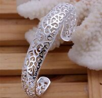 925 Sterling Silver Filigree Bracelet Bangle Stunning Ladies Jewellery Women