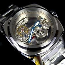 Invicta Aviator Ghost Bridge Mechanical Skeleton Silver Steel 48mm Watch New